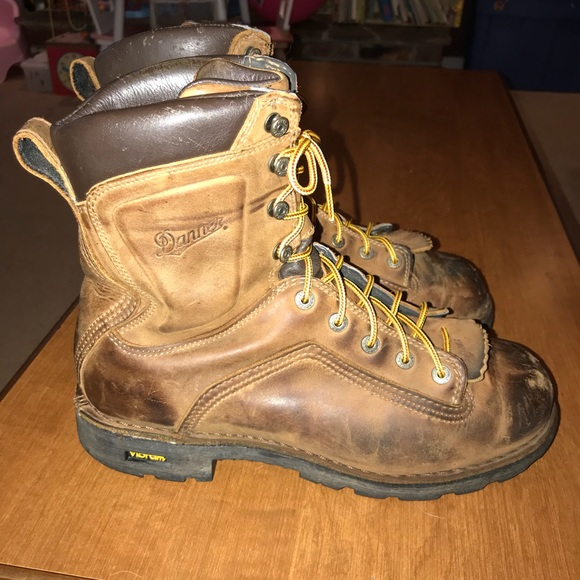 """6ad090e8718 DANNER QUARRY 8"""" Brown work boots size men's 10.5"""